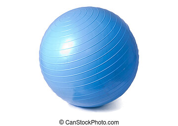 fitness ball isolated