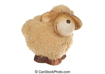 Easter Sheep - Easter sheep photo on the white background