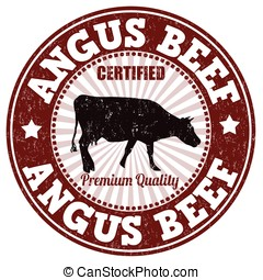 Angus beef stamp - Angus beef grunge rubber stamp on white...