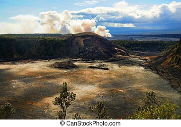 Hawaiian Volcano - Kilaua volcano on the big island of...