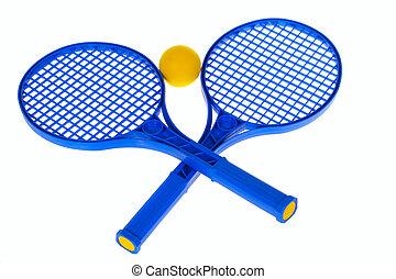 Pelota, y, raqueta