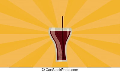 Soda icon design, Video Animation HD1080