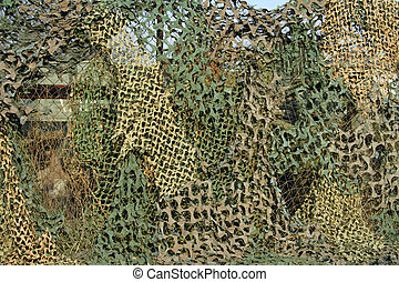 Camouflage Mesh - Camouflage mesh hidden military objects...