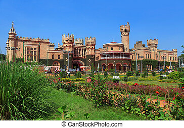 Historic Bangalore palace - BANGALORE, INDIA - Dec 13:...