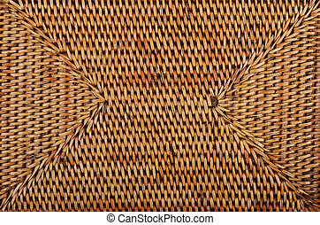 Wickered rattan background - Wickered dry rattan wooden...