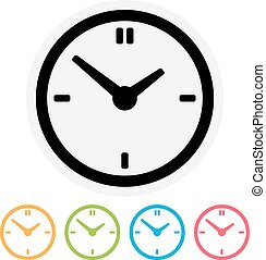 Clock icon isolated on white