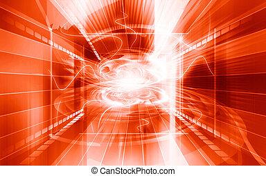 Digital background - Digital illustration of color in...