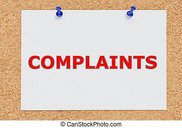 Complaints concept - Render illustration of Complaints...