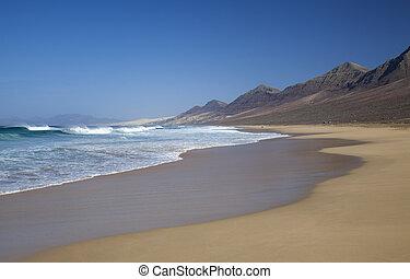 Fuerteventura, Canário, Ilhas, Cofete, praia,