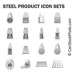 Steel product icon - Steel product and construction material...