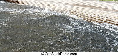 detail of riverside tejo river in lisbon