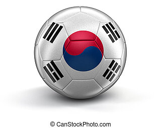 Soccer football with flag - Soccer football with South...