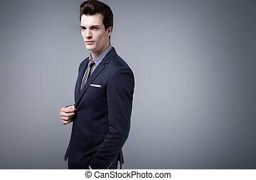 Handsome young businessman - Handsome young businessman...