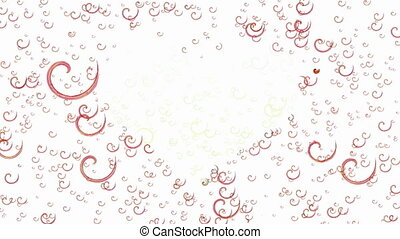 Animated spirals forms heart - Abstract animated curlicue...