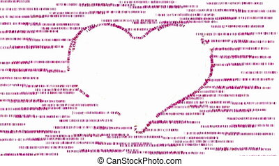 Heart on pink animated background - White heart symbol on...