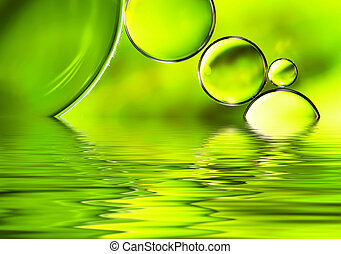 Green watery background - Green watery background, abstract...