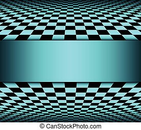 Abstract 3D Background, checkered pattern, vector...