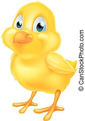 Yellow Easter Chick - A cute cartoon yellow Easter chick...