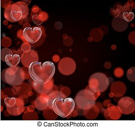 Valentines Day Background - A red valentines day hearts...