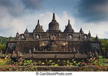 Banjar budhist temple Bali - Bali budhist temple Brahma...