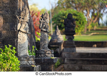 hindu sculptures Banjar temple - hindu sculptures close to...