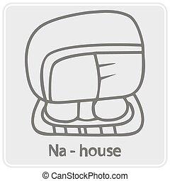 monochrome icon with glyphs