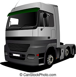 vecteur, Illustration, camion