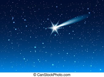 Star drops in night sky - Night sky Star drops in night sky...
