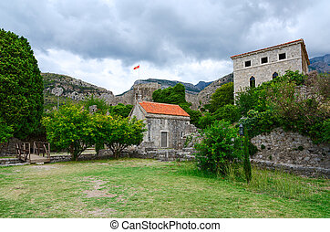 Church of St. Jovan and the Palace, Old Bar, Montenegro -...