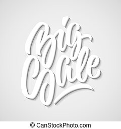 White Big Sale Calligraphy Letterin - White Big Sale...