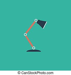 Reading-lamp flat icon - Reading-lamp Colorful vector icon...
