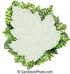 Fresh green leaves vector border. EPS 10 vector file...