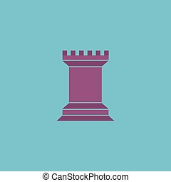 Chess Rook icon - Chess Rook Colorful vector icon Simple...