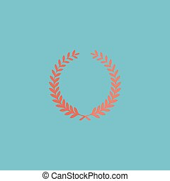 Victory laurel wreath - Victory laurel wreath. Colorful...