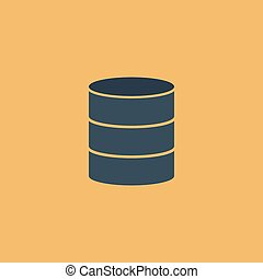Database flat icon - Database. Colorful vector icon. Simple...