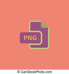 PNG image file extension icon. - PNG image file extension....