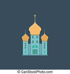 Vector church icon - Church Colorful vector icon Simple...