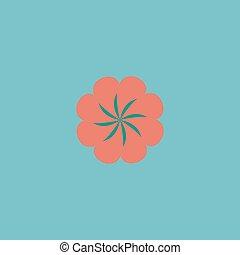 Swirl icon vector - Swirl Colorful vector icon Simple retro...