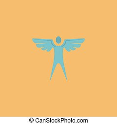 Winged man. Vector