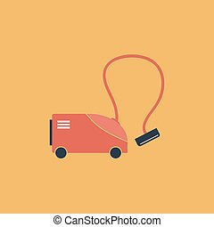 Vacuum cleaner vector icon - Vacuum cleaner Colorful vector...