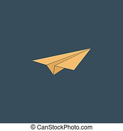 Paper Plane sign - Paper Plane Colorful vector icon Simple...
