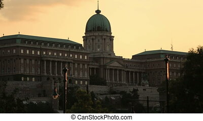 a beatiful old palace evening Budapest