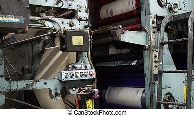 Offset Press Cyan Magenta Drums - Locked down shot showing...