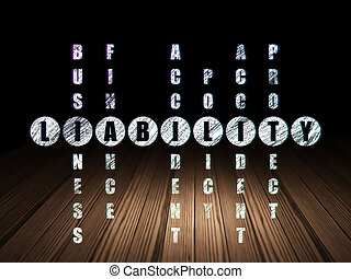 Insurance concept: Liability in Crossword Puzzle - Insurance...