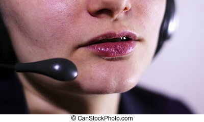 Call Center Operator Talking With Client - Support of...