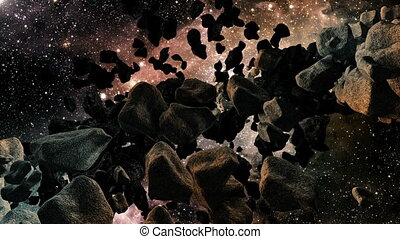 Asteroid Field - Animation about the universe - Asteroid...