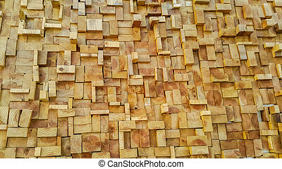 Wood slice square texture background