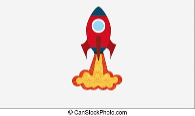 Rocket icon design, Video Animation HD1080