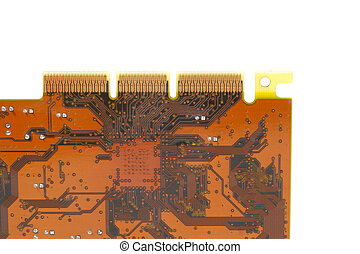 Brown Circuit Board - Match integrated photo of brown...