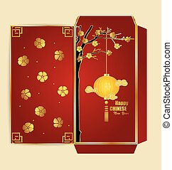 Chinese New Year Money Red Packet (Ang Pau) Design with Die...